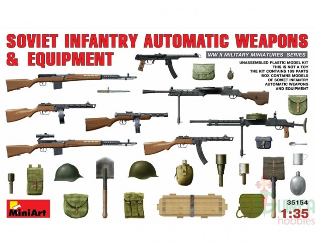 """Soviet  Infantry Automatic Weapons & Equipment"""