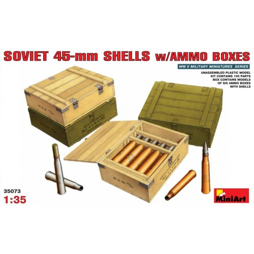 """ Soviet 45mm  Shells w/ Ammo Boxes"""